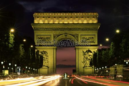 paseo viaje color noche arco boveda