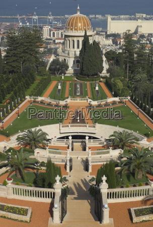 bahai shrine and gardens haifa israel