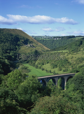 dale and viaduct from monsal head