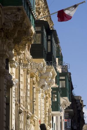 detalles del balcon valetta malta europa