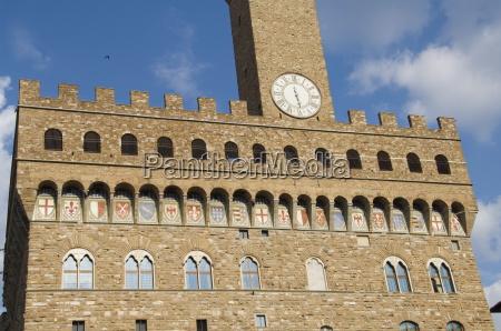 palazzo vecchio on the piazza della