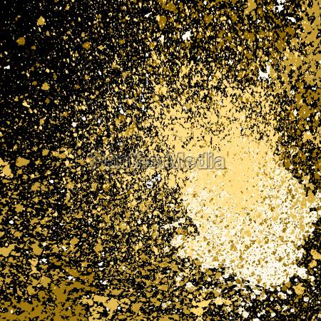 arte flujo polvo nuevo negro dorado