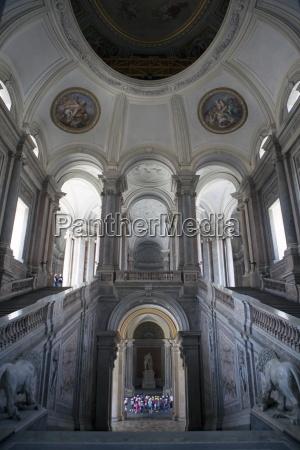 caserta royal palace entrance hall and