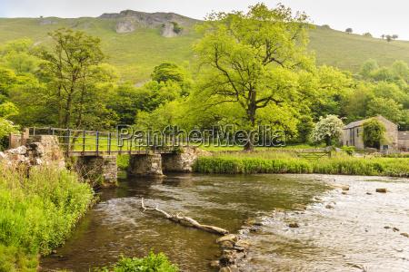 bridge across river wye stone farm