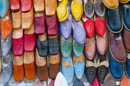 coloridos babouche zapatillas de cuero para