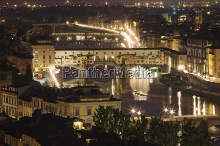bridges over the river arno florence