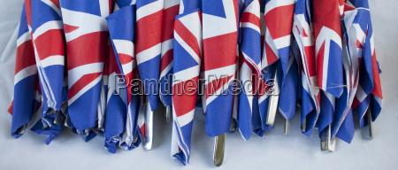 union jack banderas en servilletas como