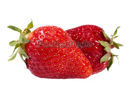 fruits of strawberry isolated on white