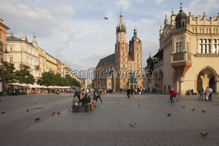polonia cracovia centro historico plaza del