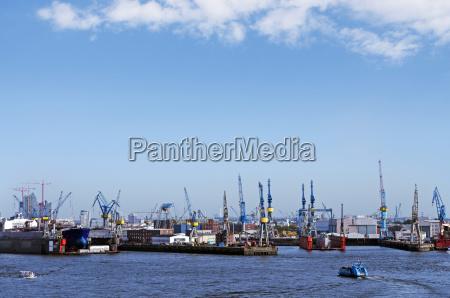 germany hamburg harbor of hamburg dock