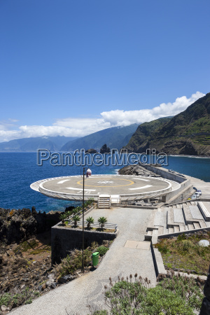portugal madeira view of helipad