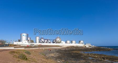 spain canary islands lanzarote arrecife industrial