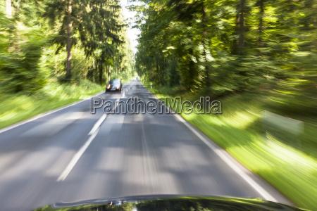 germany baden wuerttemberg car passing through