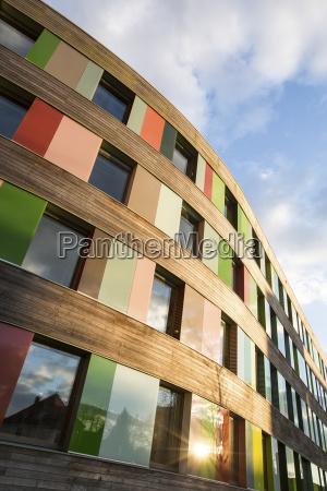 color moderno ventana madera nube reflexion