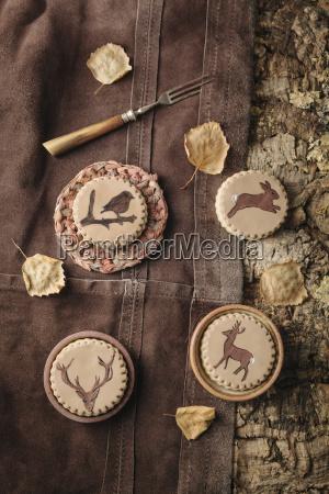 galletas caseras con animales pintados en