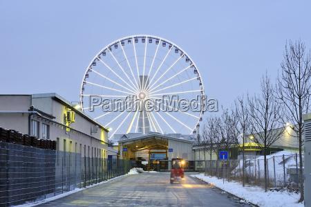ciudad entretenimiento invierno industria trafico feria