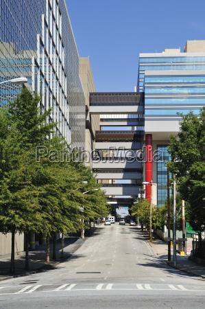 usa georgia atlanta office buildings along