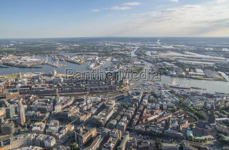 alemania hamburgo vista aerea del centro