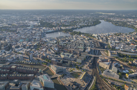 germany hamburg aerial view of district