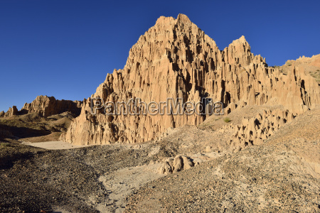 usa nevada view of cathedral gorge