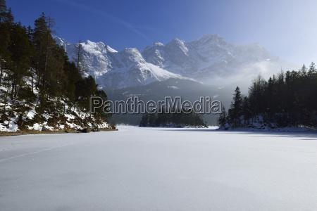 arbol invierno nube alpes baviera alemania