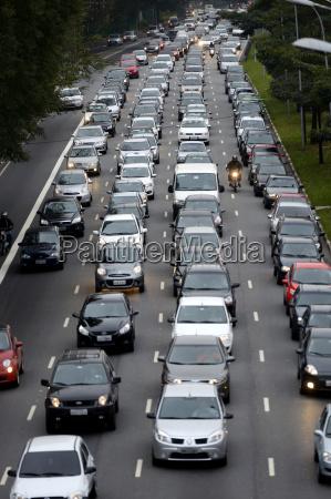 brasil sao paulo atasco de trafico