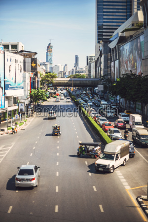 tailandia bangkok atasco de trafico en