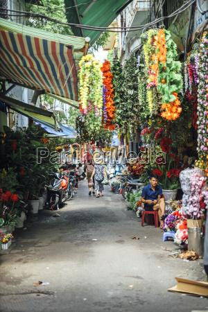 flor planta mercado al aire libre