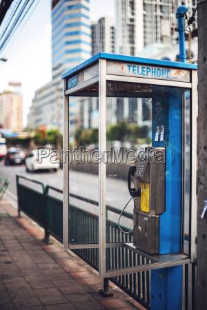 cabina telefonica telefono paseo viaje trafico