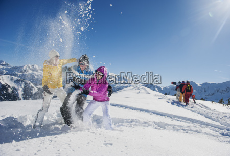 mujer personas gente hombre invierno austria
