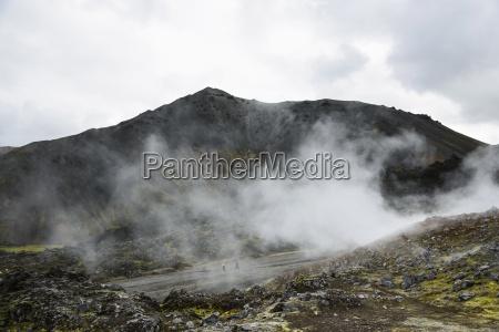 aguas termales en landmannalaugar en islandia