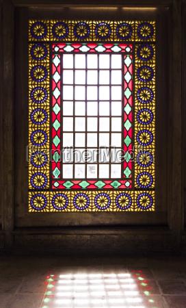 paseo viaje ventana ornamento angular forma