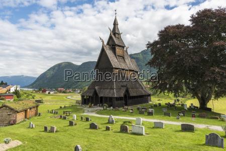 noruega vista de la iglesia de