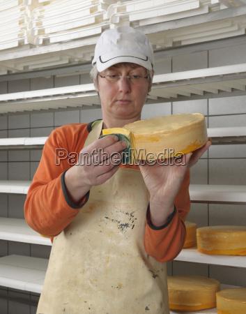 germany baden wuerttemberg mature woman preparing