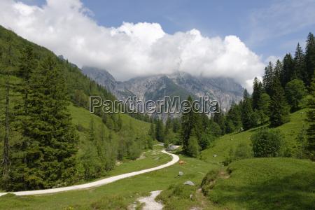 germany upper bavaria klausbach valley hiking