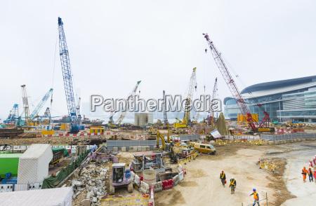 china hong kong obra en construccion