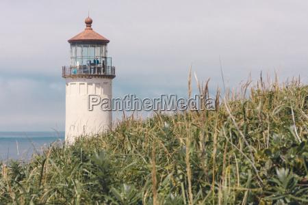usa oregon lighthouse at coast