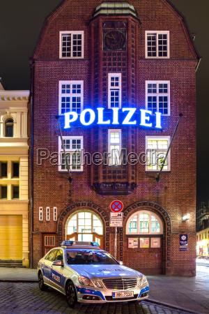 germany hamburg view of davidwache police