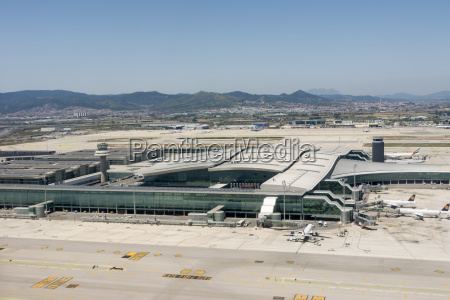 spain view of barcelona airport