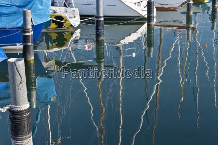 germany bavaria nonnenhorn reflections of boats