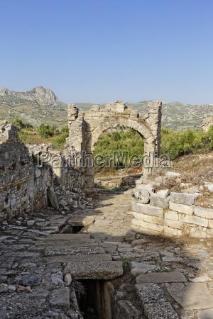 paseo viaje piedra puerta gantry rocas