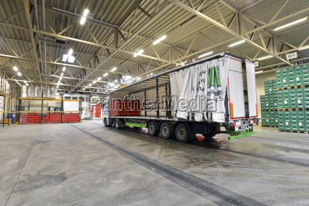 germany truck in a storage of