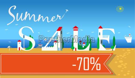 summer sale seventy percents off