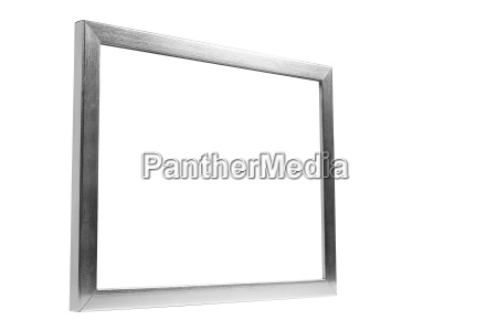aluminum decorative photo frame on white