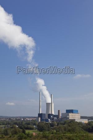 germany saarbrucken view of power plant