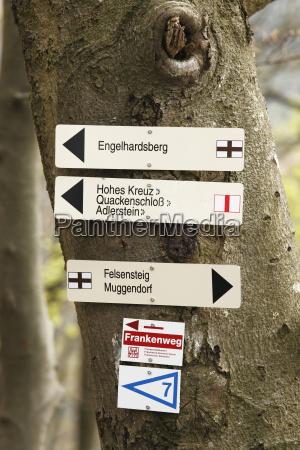 germany franconia franconian switzerland muggendorf view