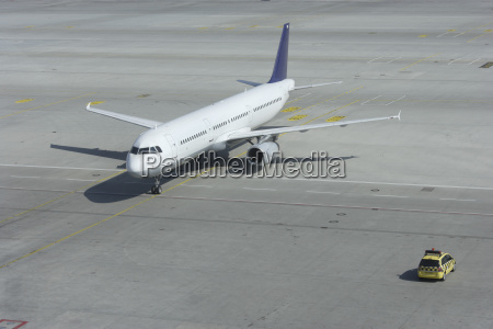 germany munich airplane and marshaller car