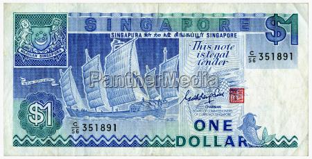 un dolar de singapur primer plano