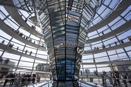alemania berlin edificio reichstag cupola vista