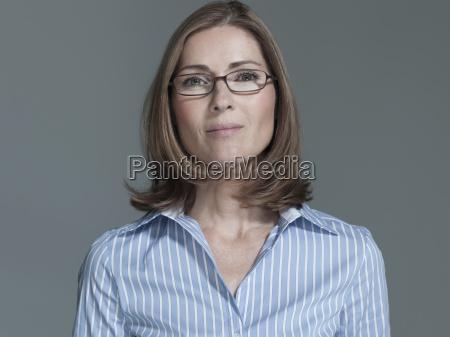 woman wearing eye glasses portrait